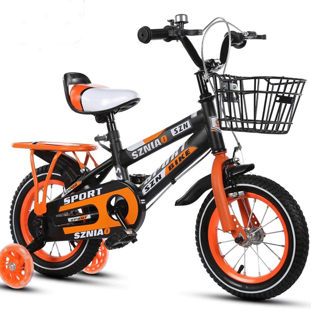 DGF 子供男性と女性のベビーカーの学生車12/14/16/18/children自転車2-10歳 (色 : イエロー いえろ゜, サイズ さいず : 14 inches) B07F1B55VB 14 inches|イエロー いえろ゜ イエロー いえろ゜ 14 inches