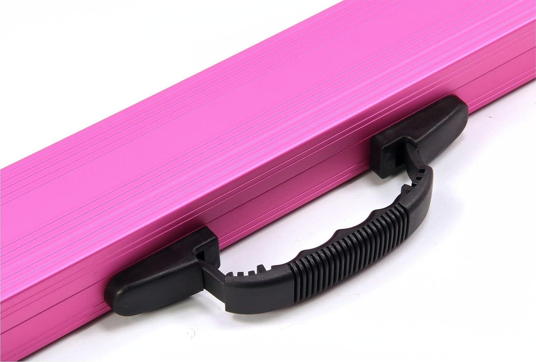 Rosa Aluminio 2/piezas Billar caso/ /Cierres Con Llave