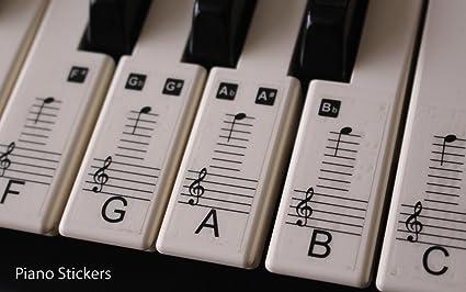 Set de pegatinas para teclado electrónico o piano con 88 teclas, ideal para