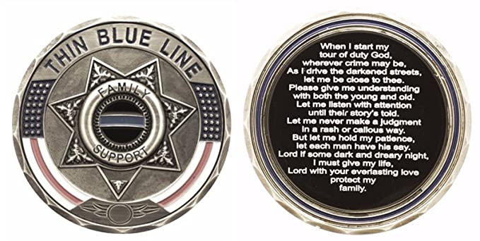 Amazon com: Thin Blue Line 7 Point Star Family Support