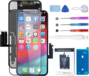 BeeFix Fit iPhone XR Screen Replacement(6.1 Inch),LCD Touch Digitizer Replacement Display Complete Repair Kits for A1984, A2105, A2106, A2108, with Waterproof Frame Adhesive Sticker + Tempered Glass