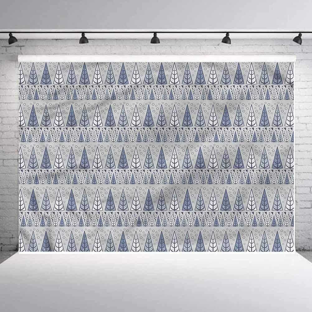 5x5FT Vinyl Photo Backdrops,Winter,Triangular Pine Trees Photoshoot Props Photo Background Studio Prop