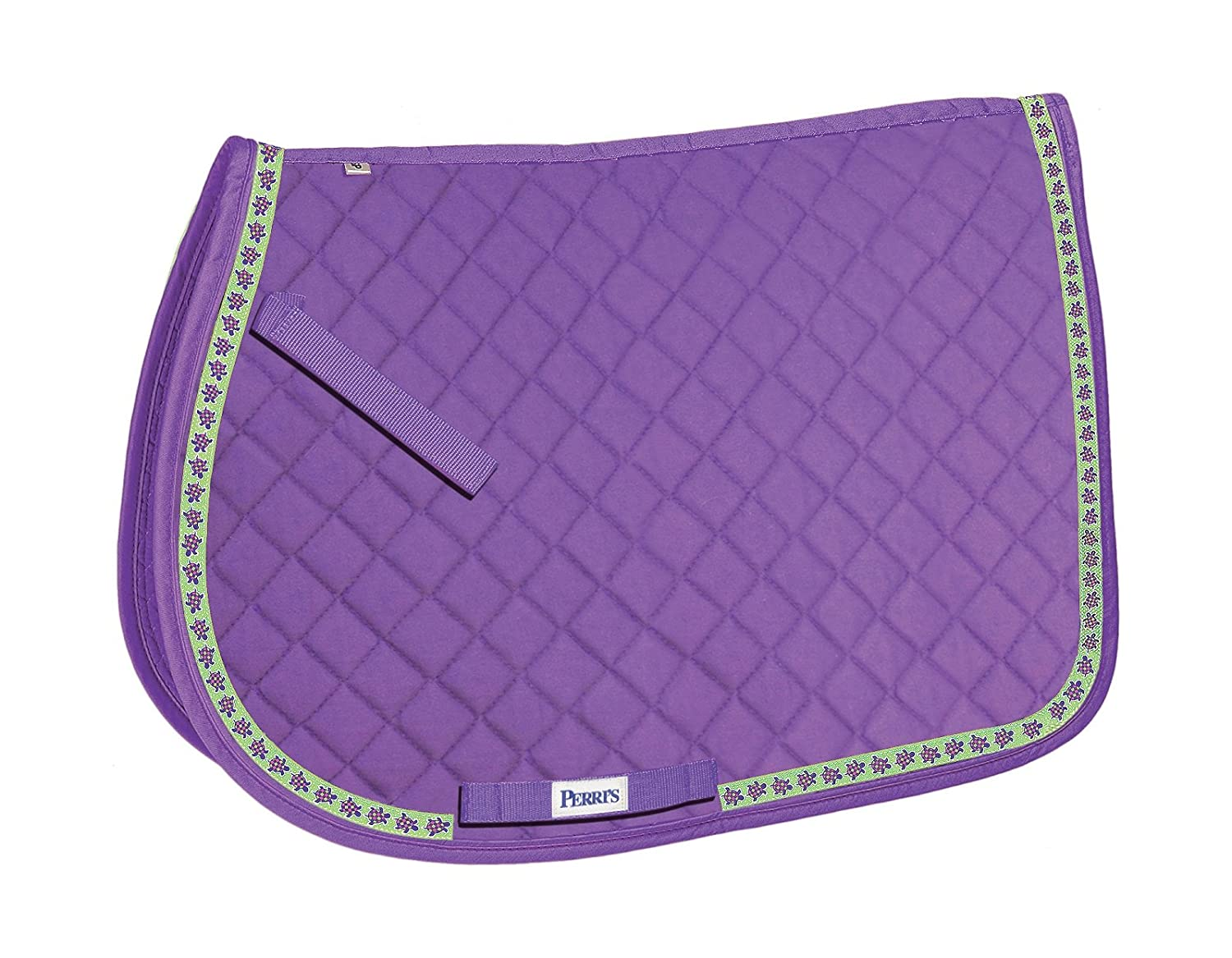 Perri's Leather Purple with Turtles A P Ribbon Saddle Pad