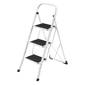 VonHaus Steel Folding Compact Portable 3 Step Ladder with 330lbs Capacity  sc 1 st  Amazon.com & Amazon.com: VonHaus Steel Folding Compact Portable 3 Step Ladder ... islam-shia.org