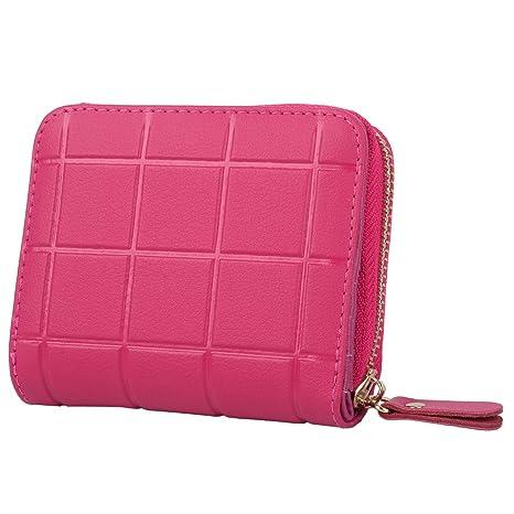 GRAN VENTA- Yaluxe Mujer Cuero Tartán Mini cartera que puede ser sostenido en una mano