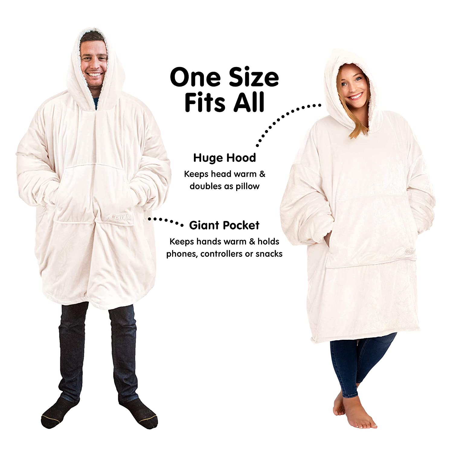 Thats a Sweatshirt The Comfy The Blanket Soft Snuggly And Comfortable Blanket Sweatshirt Originally Featured on Shark Tank One Size Fits Most