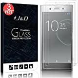 J&D Compatible for Sony Xperia XZ Premium Glass Screen Protector (3-Pack), Not Full Coverage, Tempered Glass HD Clear…