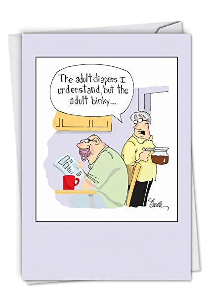 Amazon.com : C6376BDG Adult Binky: Humorous Birthday Greeting Card ...