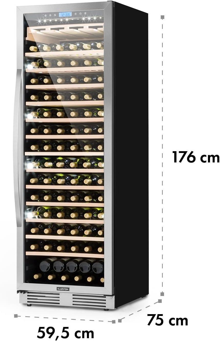 Klarstein Vinovilla Grande - Nevera para vinos, Nevera de bebidas ...