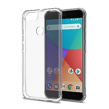 [2-Pack] Funda Xiaomi Mi A1, Carcasa Xiaomi Mi A1 SPARIN TPU Transparente [Flexibilidad] Carcasa, Funda de Silicona, [Contra Arañazos] [Anti-Golpe] ...