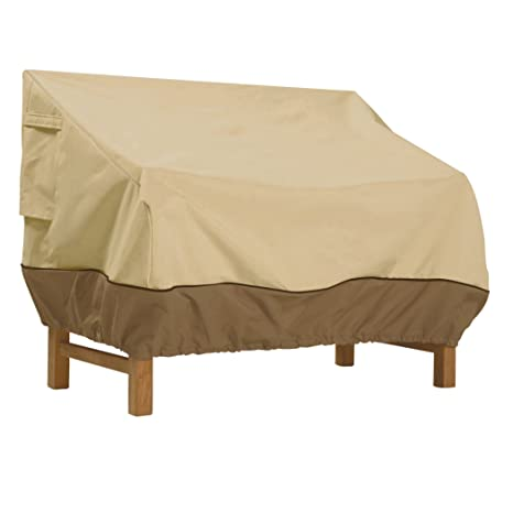 High Quality Classic Accessories Veranda Deep Patio Loveseat Cover   Durable And Water  Resistant Outdoor Furniture Cover,