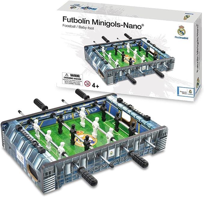 Real Madrid - Mini Futbolín Estadio Santiago Bernabéu, Multicolor (Proyectum Sport Team 10RMA-0000-1-2): Amazon.es: Juguetes y juegos