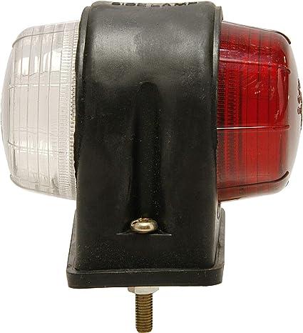 2x Positionsleuchten Rot Weiß Anhänger Inkl Leuchtmittel Begrenzungsleuchte Lkw Auto