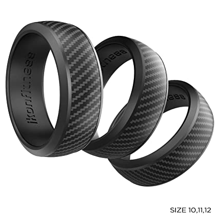 Silicone Wedding Ring.Ikonfitness Silicone Wedding Ring For Men And Women 3 Pack Rubber Wedding Band In Three Different Sizes For Work Mechanics Sports Workout Ring
