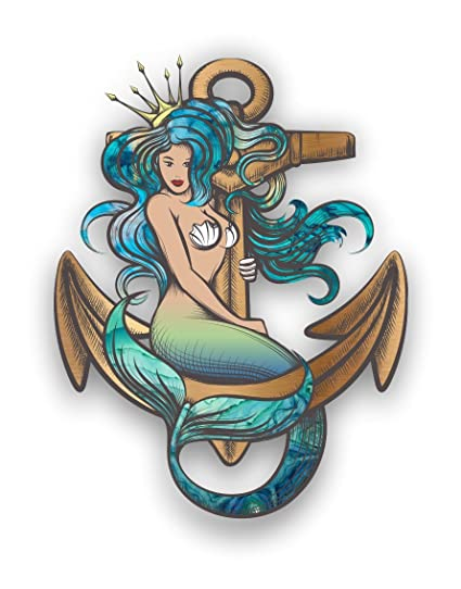 Mermaid anchor car truck graphic custom sticker laptop decal by vinyl junkie graphics