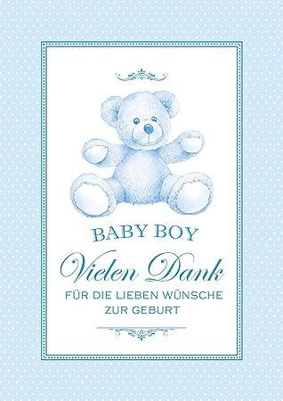 Glückwunschkarte Zur Geburt Babykarte Baby Boy Vielen Dank Für