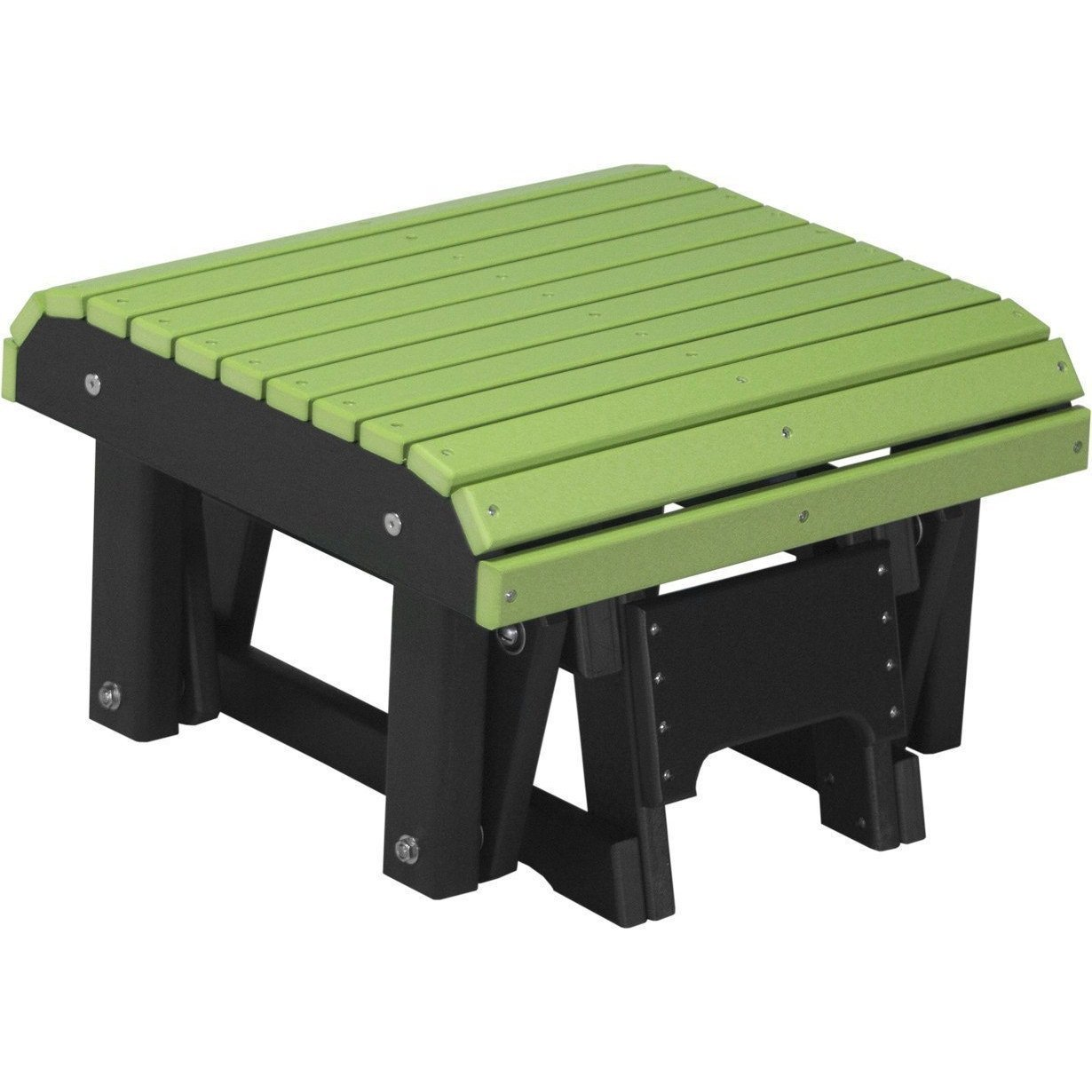 LuxCraft PolyTuf Outdoor Glider Footrest Lime Green & Black