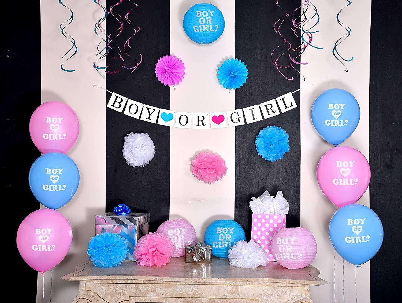 Sterling James Co Paquete De Revelación De Género Decoración Unisex Para Baby Shower Banner Y Globos Niño O Niña Para Anuncio De Embarazo