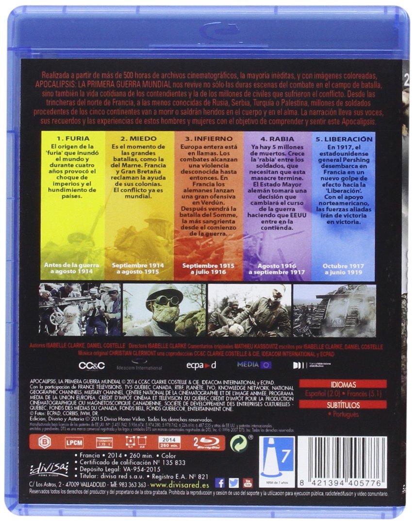 Apocalipsis: La primera guerra mundial [Blu-ray]: Amazon.es ...