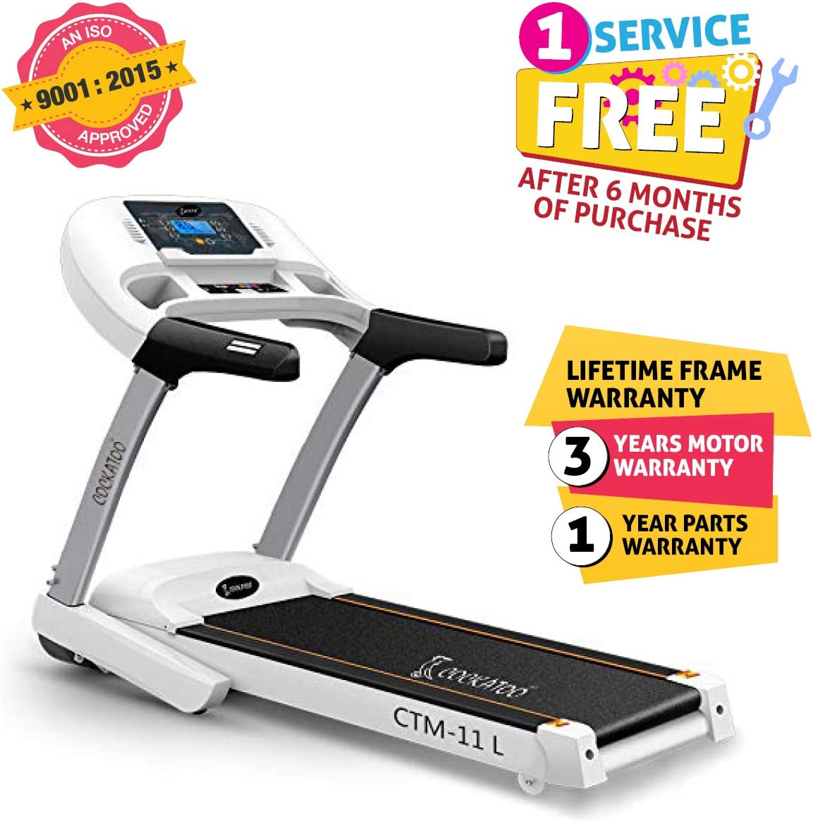 Cockatoo CTM11L 3.5 HP Peak Motorised Treadmill