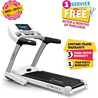 Cockatoo CTM11L 3.5 HP Peak Motorised Treadmill with Manual Incline & Auto Lubrication(Free Installation Assistance)