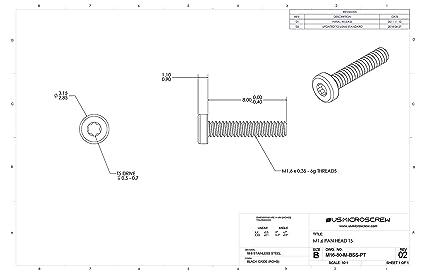 """Amazon.com : M1.6-0.35 X 8mm Machine Black Stainless ... on m16a1 schematic, stun gun schematic, b3 schematic, sks schematic, mp5k schematic, g3 schematic, m21 schematic, uzi schematic, m79 schematic, fal schematic, enfield schematic, shotgun schematic, m 16"""" rifle schematic, m14 schematic, m249 schematic, ak-47 schematic, m4 schematic, pistol schematic, m60 schematic,"""