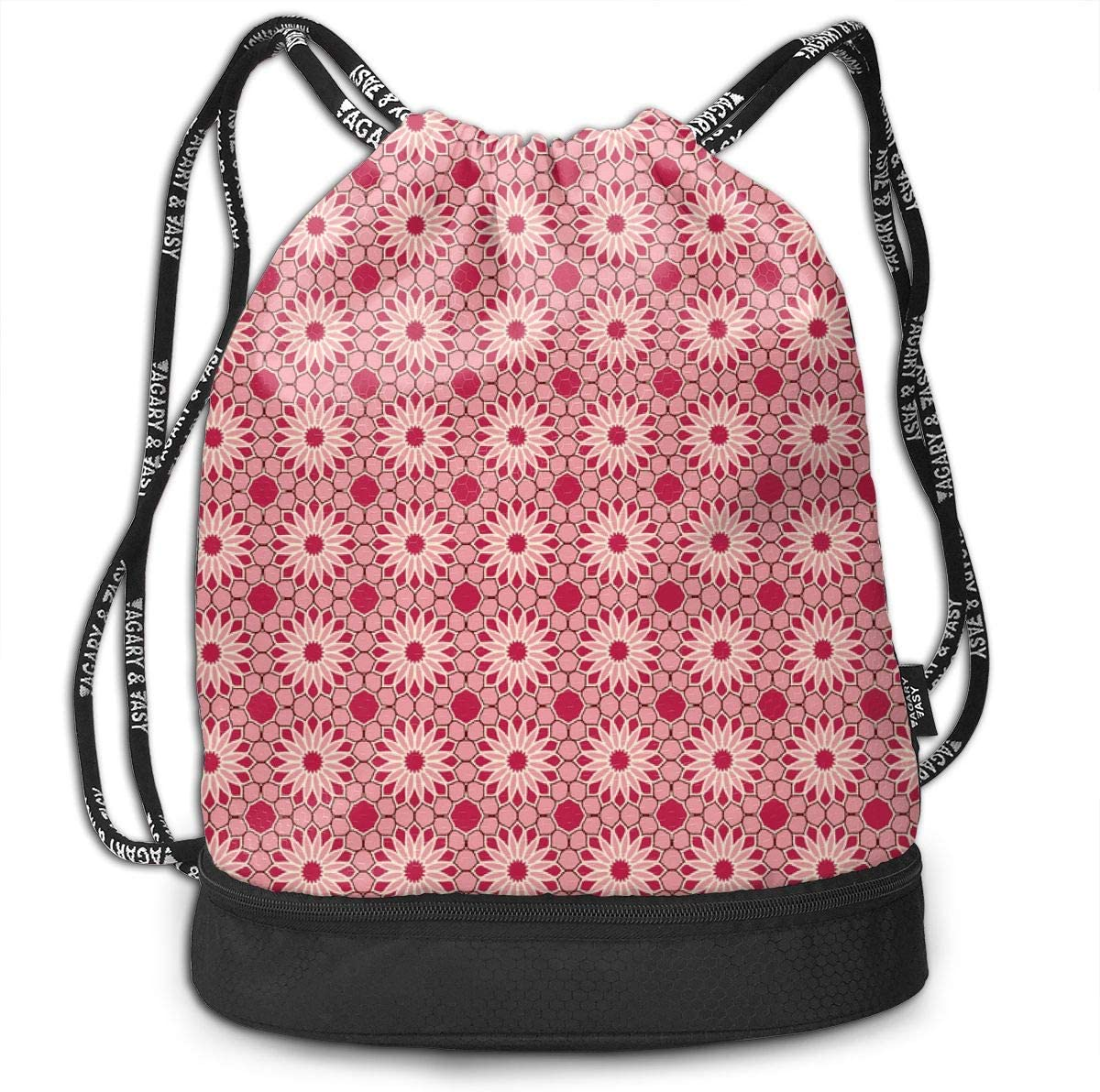 Rock Daisies Rose Red Drawstring Backpack Sports Athletic Gym Cinch Sack String Storage Bags for Hiking Travel Beach