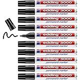 Edding 3000 Endüstriyel Permanent Marker 10'lu Paket Siyah