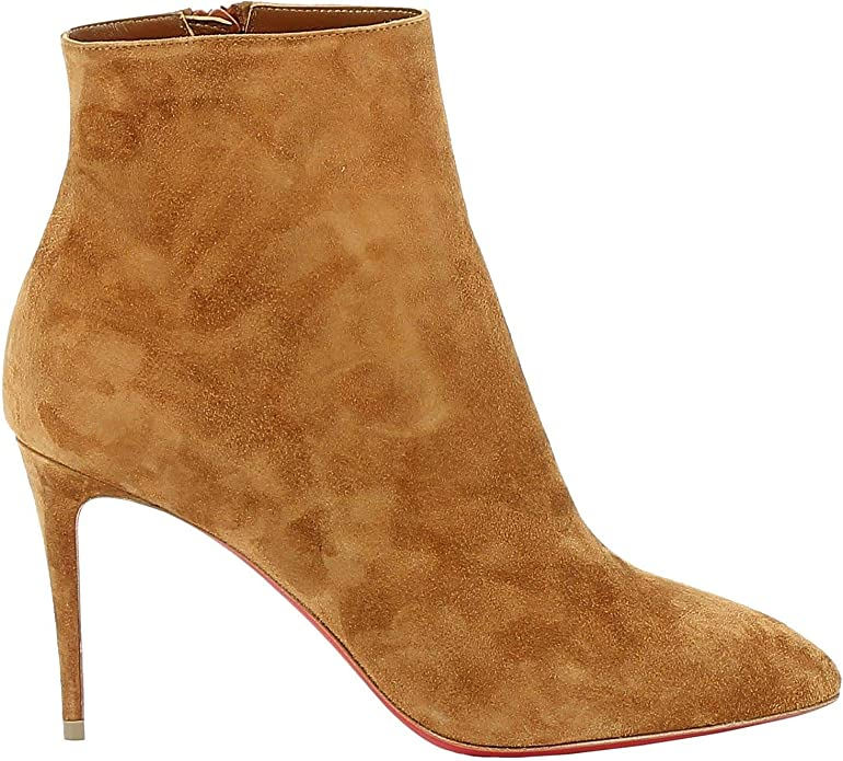 Christian Louboutin Luxury Fashion Womens Ankle Boots Summer Brown