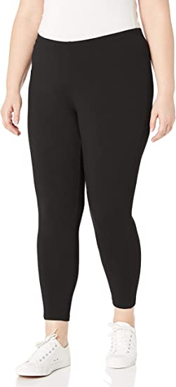 Size 2XL-3XL Just My Size Women/'s Stretch Cotton Leggings Black