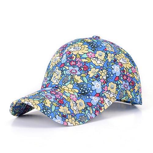 Verano vacaciones al aire libre sombrero para el sol/Tapa de ventilación/Floral impresión gorra