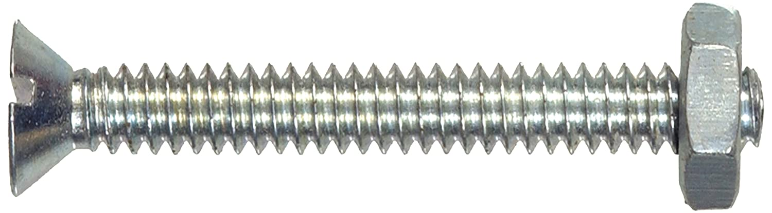 Flat Head Slotted Stove Bolts with Nut 10-Pack The Hillman Group The Hillman Group 1803 3//8-16 x 3//4 In