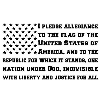 c21ac1c857 Amazon.com  BAMFdecals USA Pledge of Allegiance Subdued American Flag Shape  Die-Cut Vinyl Decal - Medium - Black  Automotive