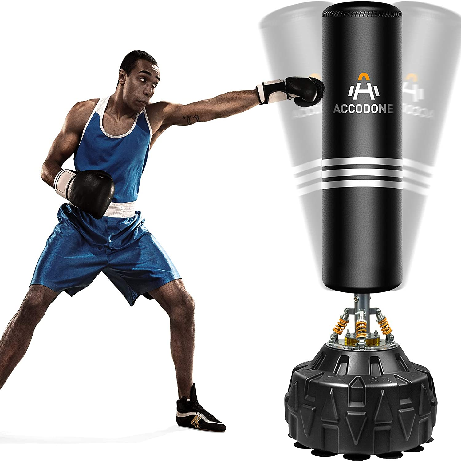 Freestanding Punching Bag with Stand 70'' 182lb Boxing Punching Bag with Durable Suction Base for Adult Youth - Men Heavy Free Standing Punching Bag