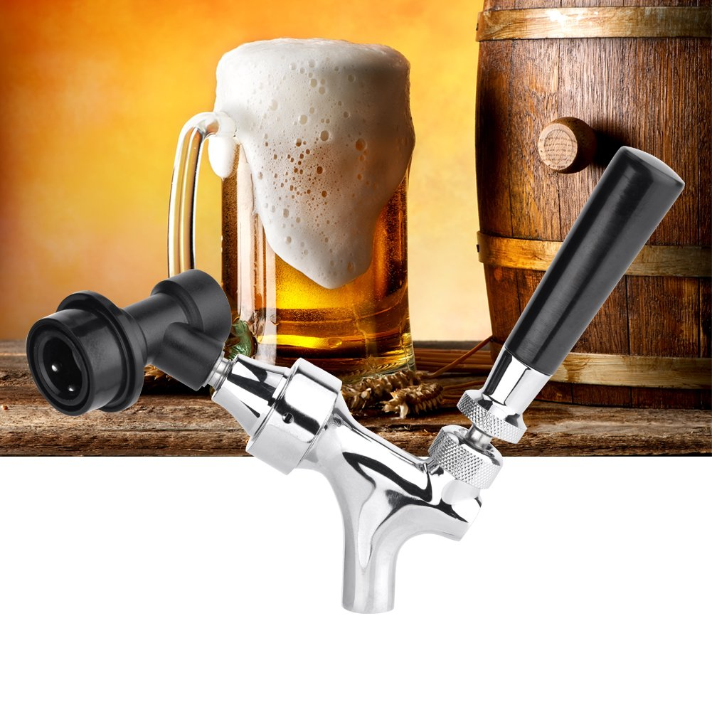 Adjustable Flow Control Stainless Steel Beer Tap Faucet with Ball Lock Liquid Disconnect Kit for bars, hotels, restaurants, home