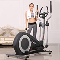 HARISON Elliptical Exercise Machine, Elliptical Trainer with 32 Levels of Resistance, Magnetic Exercise Bike with Monitor and iPad Holder.