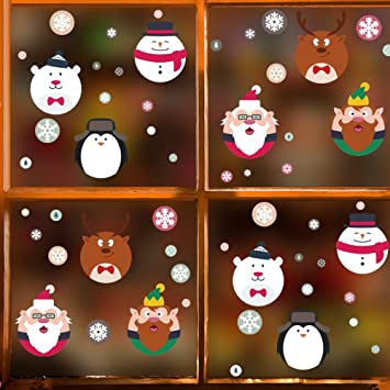 dktie christmas window decorations hanging snowflake holiday decoration christmas decals for window stickers gifts - Christmas Window Decorations Amazon