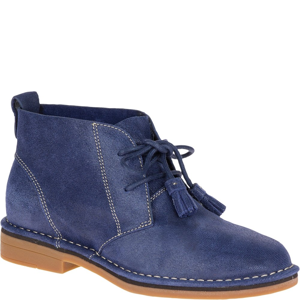 Hush Puppies Women's Cyra Catelyn Boot B01EICGZ3Q 9 B(M) US|Navy Shimmer Suede