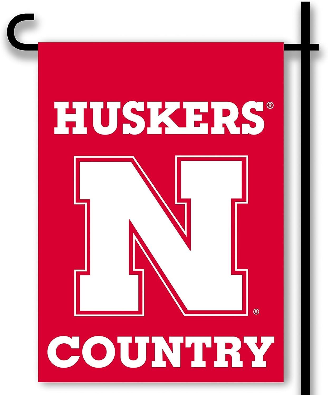 NCAA Nebraska Cornhuskers 2-Sided Country Garden Flag2-Sided Country Garden Flag, Red,