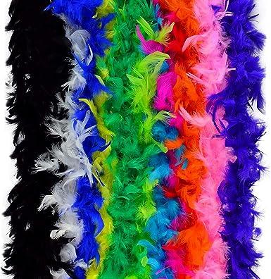 Flapper 6/' Feather 40g Boa Costume Accessory 4 COLORS