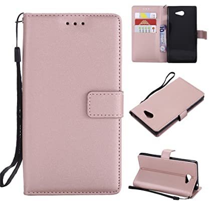 quality design 598e5 5d641 Amazon.com: Torubia Sony Xperia M2 Leather Wallet Case with Case for ...