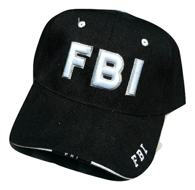 Amazon.com  HMC FBI Low Profile Adjustable Ball Cap (Black)  Clothing 9c43dec951f