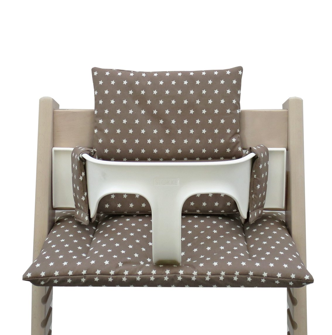 Blausberg Baby - Coated Cushion Set for Tripp Trapp High Chair of Stokke - Taupe Stars 050474
