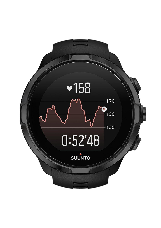 Suunto Spartan Sport Wrist HR - SS022662000 - Reloj GPS Multideporte - Sumergible hasta 100m - Pulsómetro de muñeca - Pantalla táctil de color - Negro - Talla única