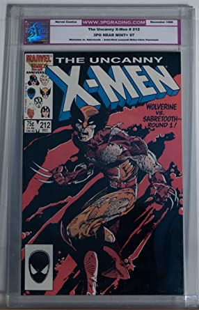 8f249fe3fa5 Amazon.com: X-MEN #212, 3PG / CGC 97 NM, Wolverine vs Sabretooth ...