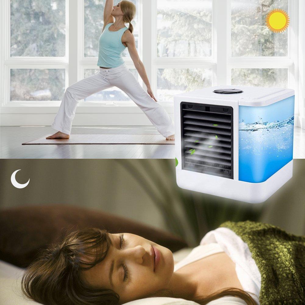 / /Climatizador port/átil Cool/ B /Refrigerador de aire Humidificador Ventilador con conexi/ón USB o Red Conector Hydro de chill Tecnolog/ía 3/niveles de refrigeraci/ón 7//ánimo luces