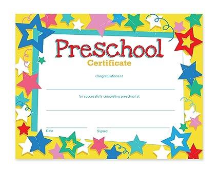 Amazon.com : Preschool Certificates - 60-Pack Award Certificate ...