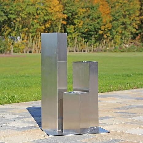 CLGarden - Elemento de 3 columnas de Acero Inoxidable para ...
