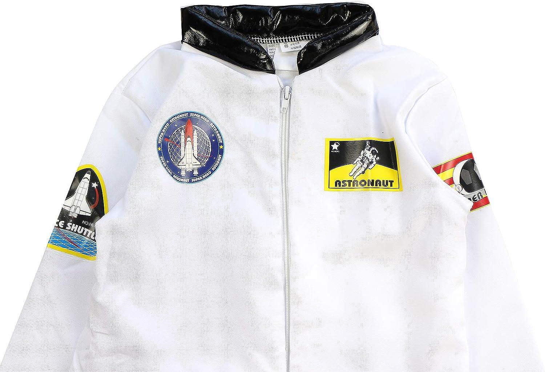 AGQT Kids Halloween Astronaut Costume Set Long Sleeve Pilot Spacesuit Onesie Outfits Boys /& Girls Party