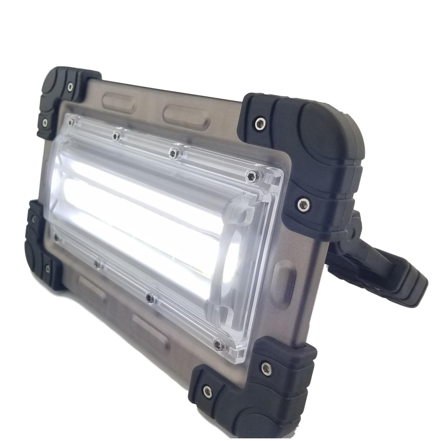 30 Watt Portable 2000 Lumen LED Work Light,Outdoor Flood Light, for Workshop,Construction Site, Building, Camping,Hiking,Car Repair, Rechargeable Battery Power Bank by Nighthawk (Image #1)
